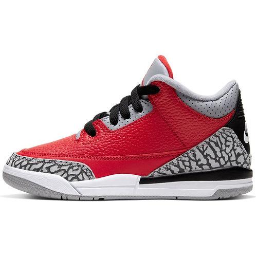 Air Jordan 3 SE Pre-School (Fire Red/Fire-Red-Cement Grey)