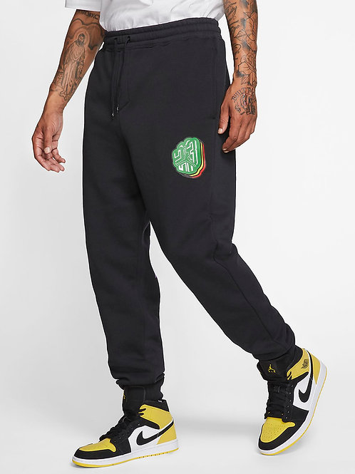 Air Jordan Sticker Fleece Pant (Black/Multi)