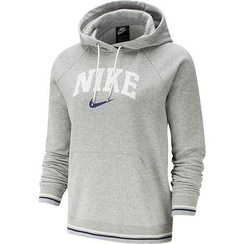 Nike Sportswear Fleece Hoodie (Grey/White/Navy)