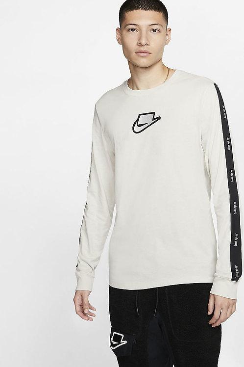 Nike NSW Long Sleeve Tee (Light Bone/Black)