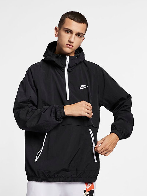 Nike Sportswear Anorak Hooded Jacket (Black/White)