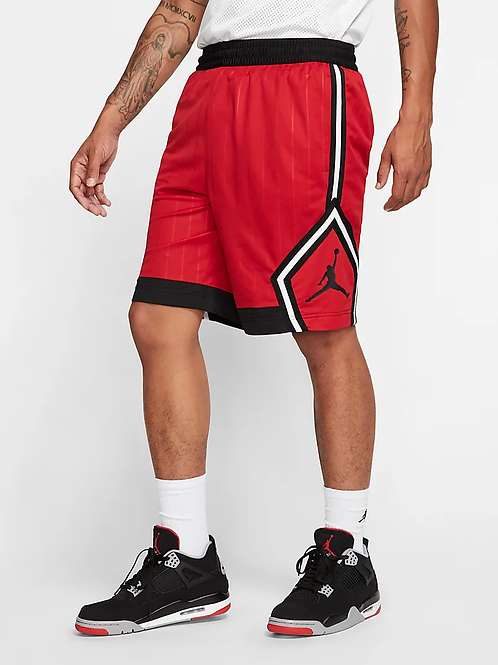 Air Jordan Jumpman Diamond Striped Short (Red/Black/White)