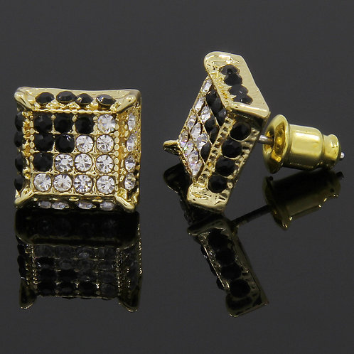 Gold Plated Square Earrings