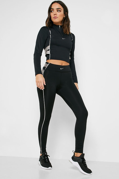 Nike Pro Hyperwarm Tight (Black/Silver)