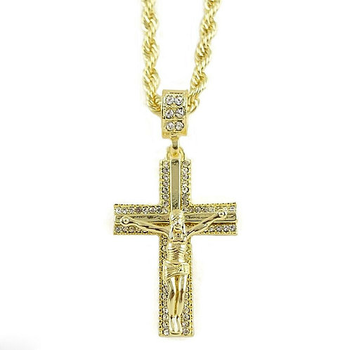 Gold Plated Cross Pendant