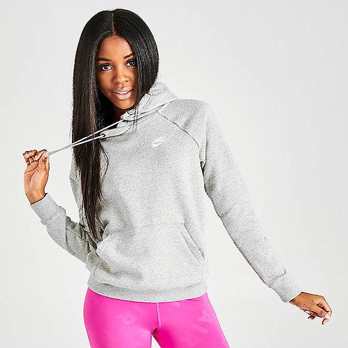 Nike Essential Club Fleece Hoodie (Grey/White)