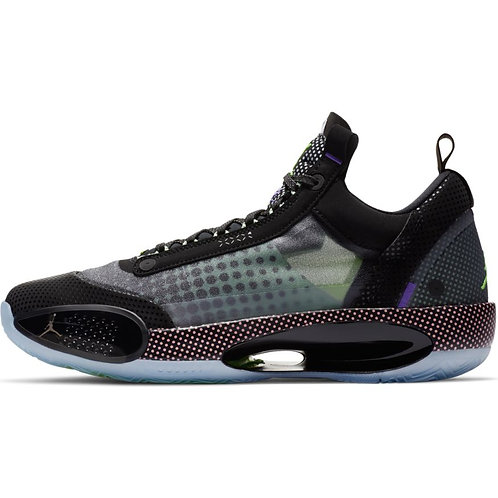 Air Jordan XXXIV Low (Black/White-Vapor Green)