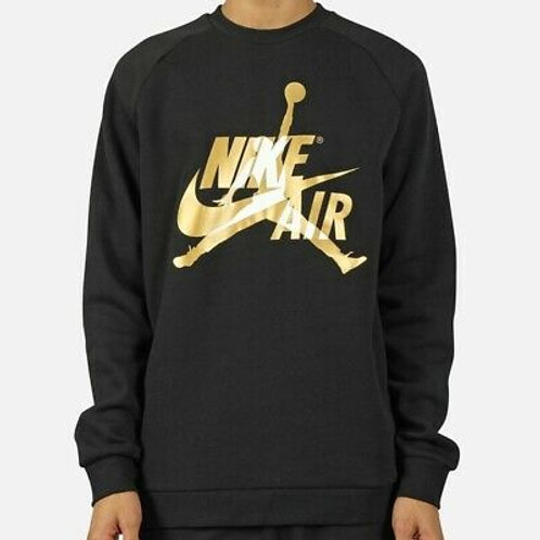 Air Jordan Jumpman Classics Long Sleeve Crew (Black/Gold)