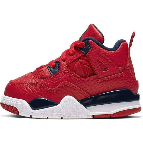Air Jordan Retro 4 Toddler (Gym Red/Obsidian-White)