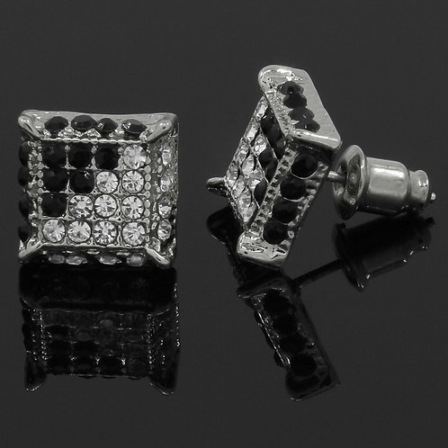 Silver Plated Square Earrings