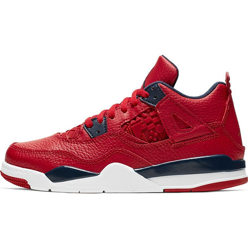 Air Jordan Retro 4 Pre-School (Gym Red/Obsidian-White)