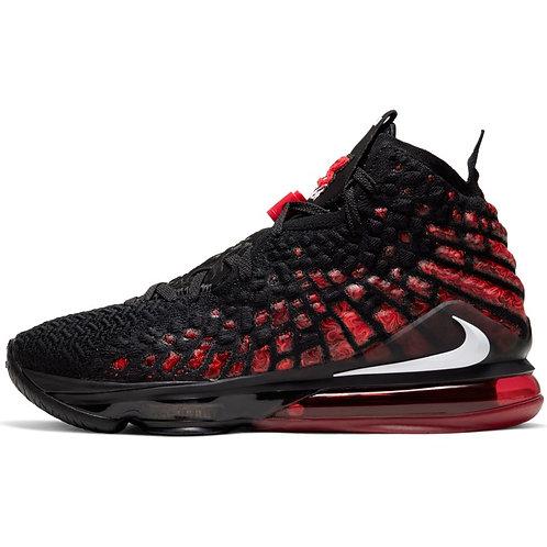 Nike Lebron XVII (Black/White-University Red)