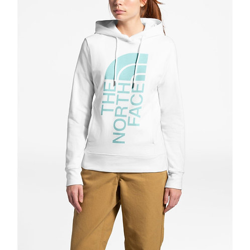 The North Face Holiday Trivert Pullover Hoodie (White/Blue)
