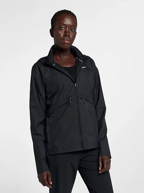 Nike Essential Hooded Full-Zip Jacket (Black/Silver)