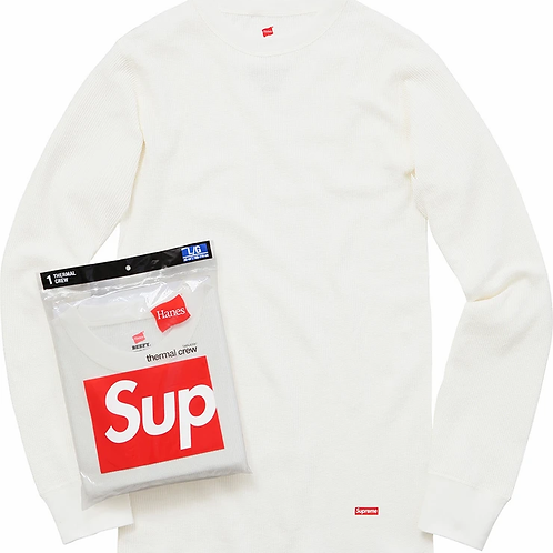 Supreme Hanes Thermal Crew (White)