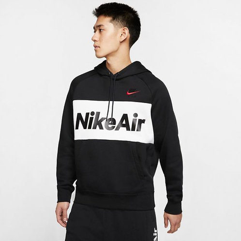 Nike NSW Air Fleece Pullover Hoodie (Black/White)
