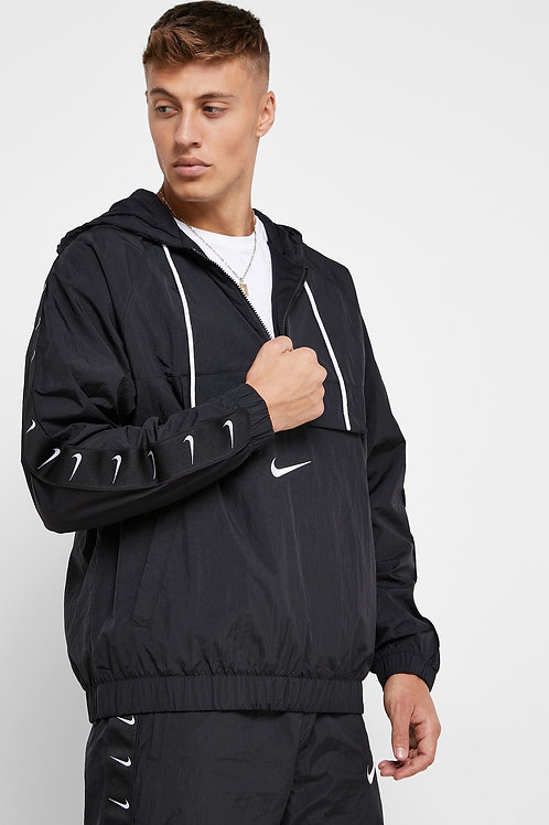 Nike Swoosh Woven Jacket (Black/White)