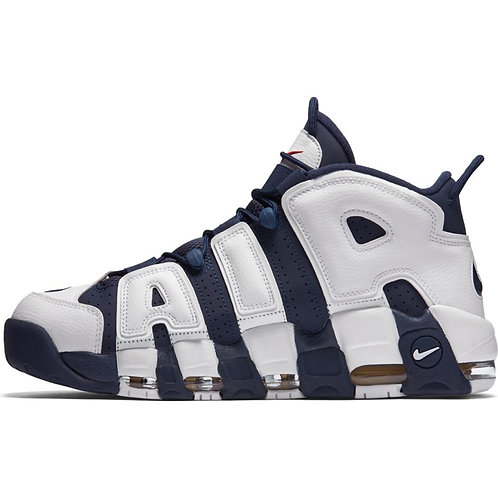 Nike Air More Uptempo (White Midnight Navy-Metallic Gold)