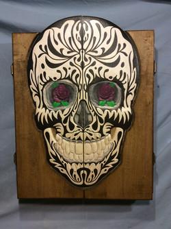 sugar skull dart cabinet