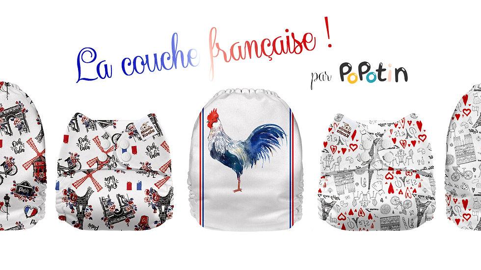 """Trio """"La couche à la française !"""" par PoPotin"""