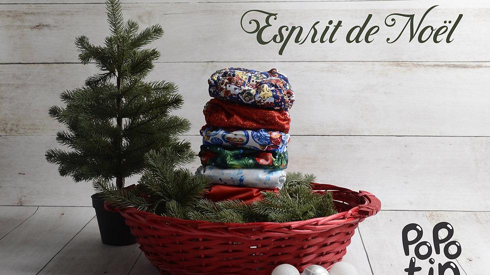 """Lot de 6 couches Mama Koala """"Esprit de Noël"""""""