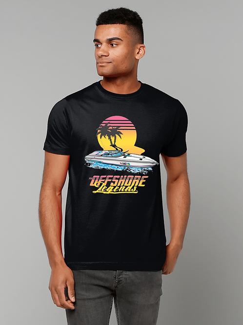 """Offshore Legends Sunset Run / """"Top Gun"""" Formula 419 SR1 T-Shirt"""