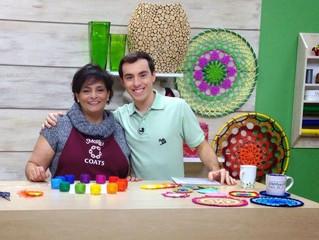 Programa Arte Brasil - Porta Copos em Crochet e Dicas para combinar cores