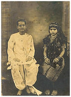 Bireswar Sen and Protima Sen, soon after their wedding