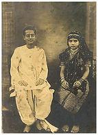 Bireswar Sen and Protima Sen, soon after their wedding