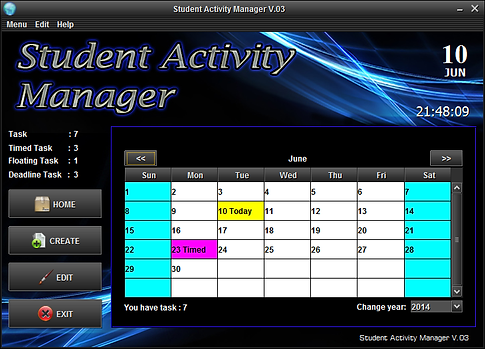 student activity manager