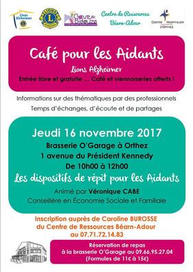 CAFÉ DES AIDANTS 16/11/2017