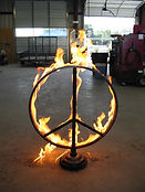 Flaming Peace Sign