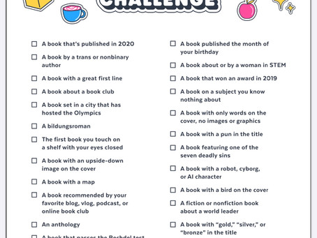 Pop Sugar 2020 Reading Challenge