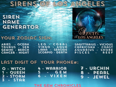 Blog Tour: Sirens of Los Angeles by Caedis Knight | Siren Name Generator