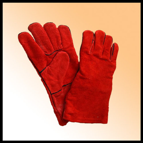 WELDING GLOVES RED WITH PIPING