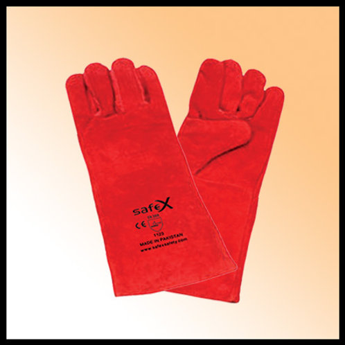 WELDING GLOVES RED PAKISTAN