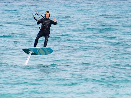 Awesome article about Steve's experience learning to foil with me on Fuerteventura