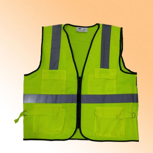 SAFETY VEST GREEN WITH 4 POCKET OLYMPIA