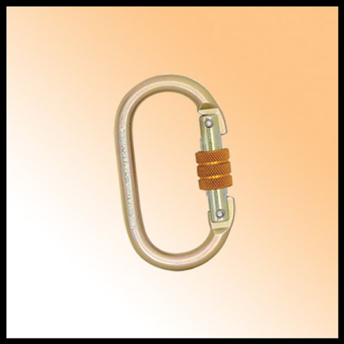 KARABINER STEEL SCREW LOCKING