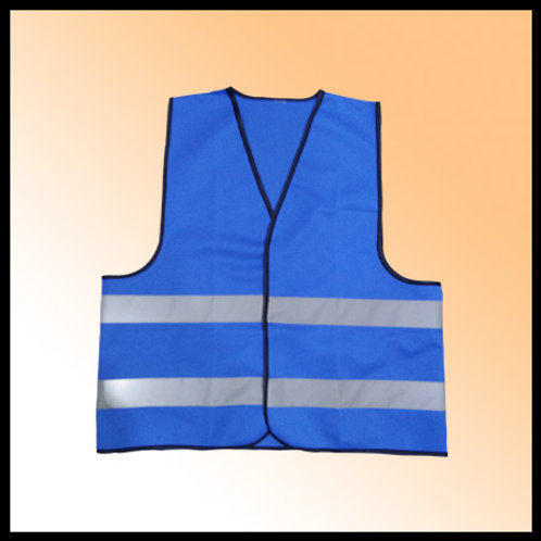 SAFETY VEST BLUE FABRIC