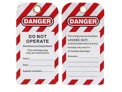 Safety Warning Tag