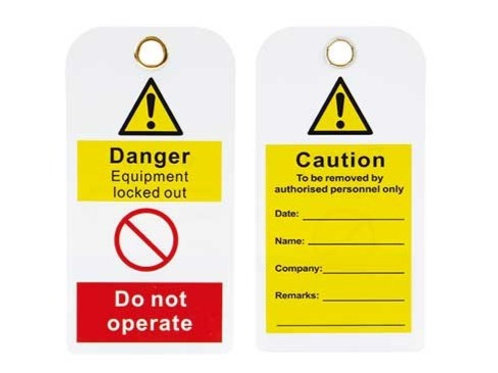 Safety Warning Tag