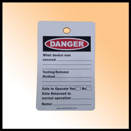 DANGER - LOCKED OUT TAG (PAPER)
