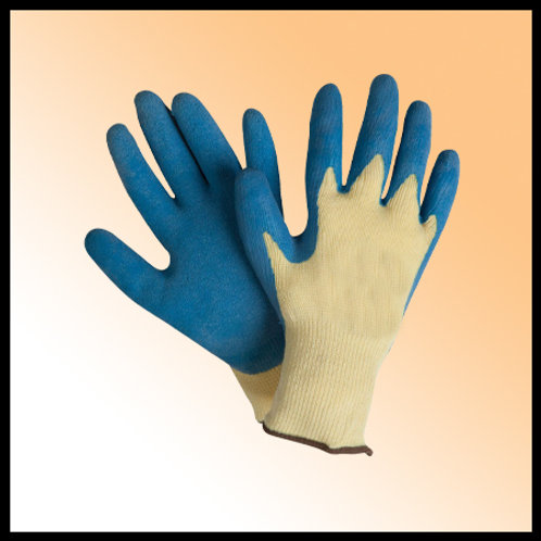 RUBBER COATED GLOVES - BLUE,ORANG,GREEN