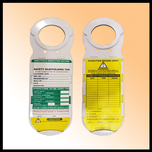 SCAFFOLDING TAG WITH HOLDER - INDIA
