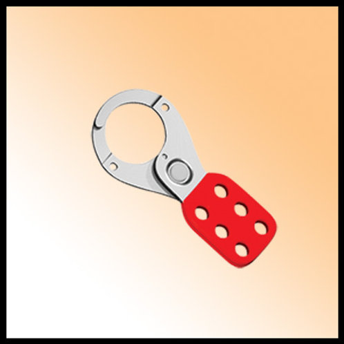 LOCK OUT VINYL COATED HASP 5MMX25MMDIA - RED
