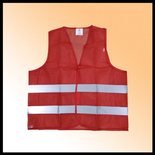 SAFETY VEST RED FABRIC