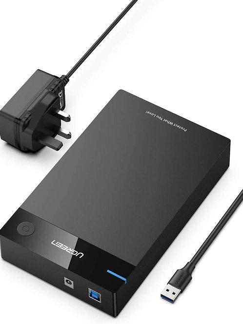 Hard Drive Enclosure 3.5 inch External SATA Disk Caddy Reader USB 3.0