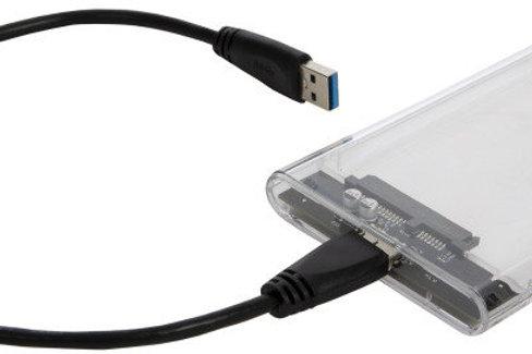 "2.5"" SATA HDD Enclosure USB 3.0 Clear"