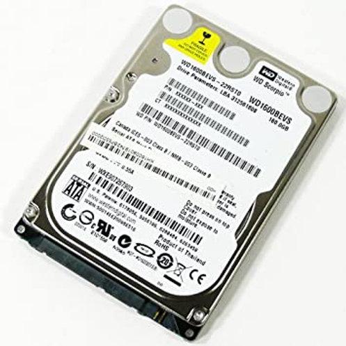 """160GB SATA 2.5"""" HDD (Various Makes & Models)"""